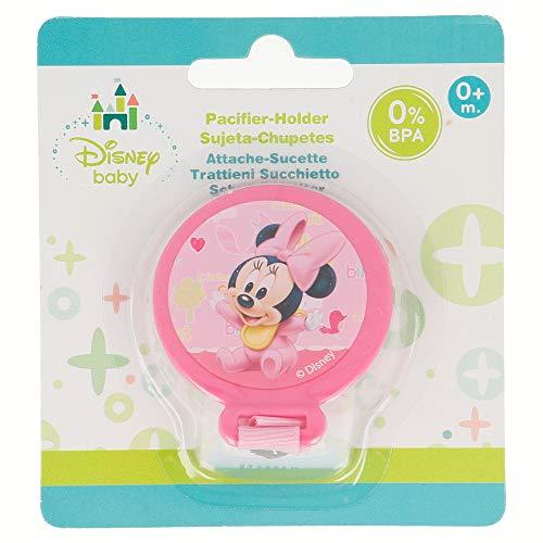 Elemed 39923 Baby Schnuller Halter in Blister mit Minnie, mehrfarbig