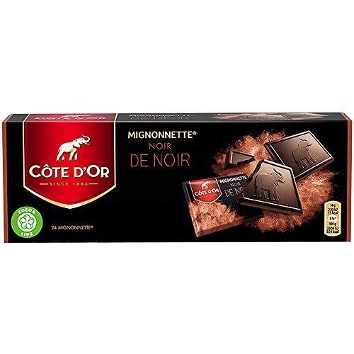Côte d'Or Mignonnette Noir, Schokoladentafeln 24 x 10g (dunkel 55% Kakao)