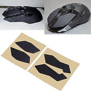 وسادات الماوس - ملصقات جانبية أصلية للألعاب على شكل ألواح ماوس مقاومة للعرق مع شريط مضاد للانزلاق G900 G903 Mouse QX2B