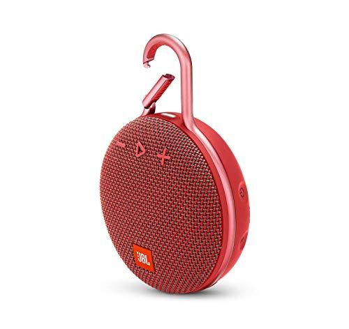 JBL Clip 3 Waterproof Wireless Bluetooth Speaker - Red - JBLCLIP3REDAM (Renewed)