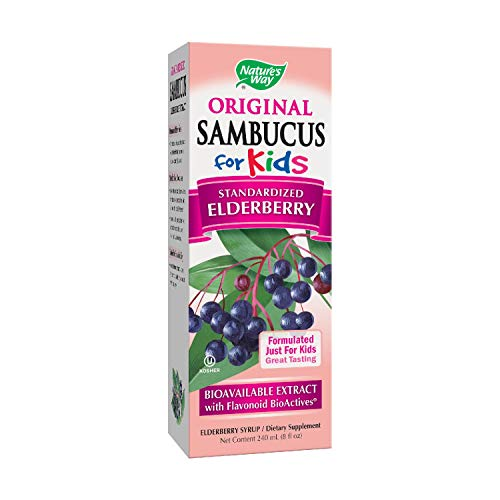 Nature's Way Sambucus Elderberry Syrup for Kids, Herbal Supplements, Gluten Free, Vegetarian, 8 Ounce