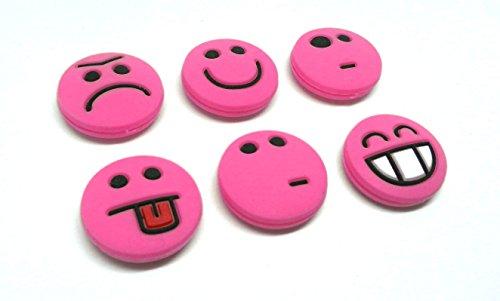 Tennis Feel sorbifun amortiguadores de vibración, Antivibradores de Raqueta de Tenis Emojis, Pack de 6 (Rosa)