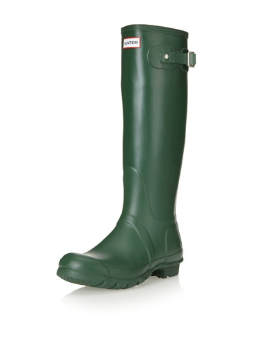 Hunter Original Tall, Women's Rain Boots, Hunter Green, 3 UK
