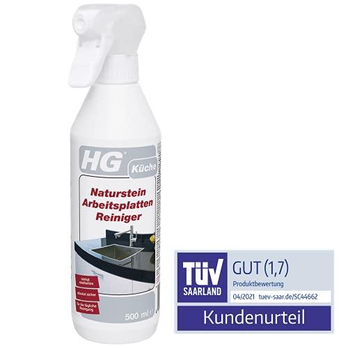 HG Naturstein-Arbeitsplatten-Reiniger, 3er pack (3x 500 ml) – ist ein Naturstein Reiniger zur schnellen, streifenfreien, schonenden täglichen Reinigung von Arbeitsplatten
