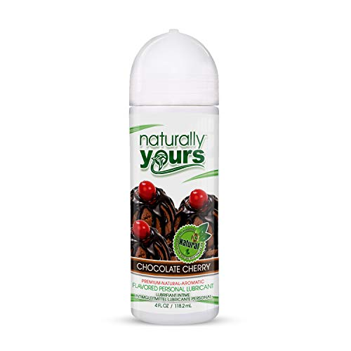 Naturally Yours - Chocolate Cherry Flavored, Natural Personal Lubricant 4 oz for Couples, Women & Men