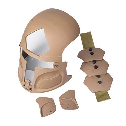 DUS Mascara de Proteccion para Airsoft/Paintball/Nerf/Juego de Guerra, Máscara Protectora TNG Galac-TAC Fast Helmet Tactical Mask (sin Casco)