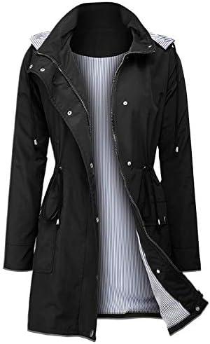 Arthas Women s Lightweight Rain Jacket Waterproof Breathable Raincoat with Hood Active Outdoor product image