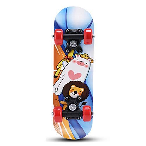 QWERT 5 Skateboard 43 cm spezielle Cartoon Muster Kinder vierrädrigen Roller Short-Board, EIN fuß Kind Roller, rutschig,-black7