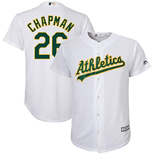 Matt Chapman Oakland Athletics Youth 8-20 White Home Cool Base Replica Player Jersey (Medium 10/12)