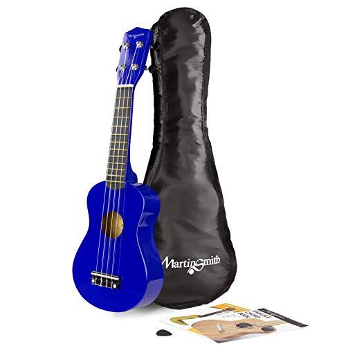 Martin Smith Ukelele soprano con bolsa de ukelele, color Azul