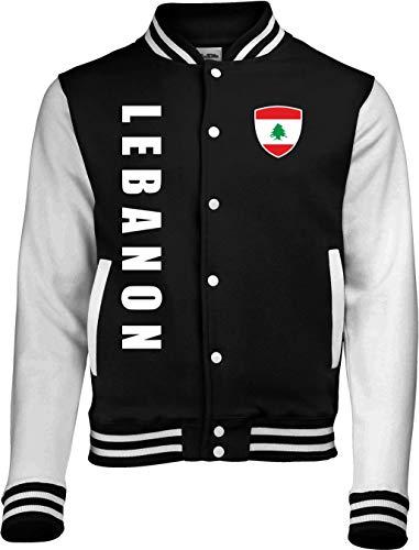 Aprom-Sports Camiseta deportiva del Líbano College – EM WM Sweat Sport Trikot SC Look Negro XL