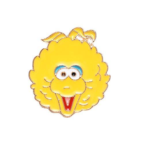 CCJIAC Broschen und Emaille Pins Elmo Cookie Monster Brosche Pin Breastpin Brotheroch Unisex süßes Geschenk