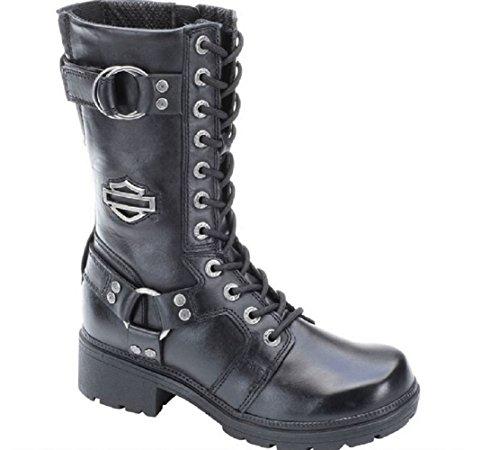 Harley-Davidson Women's Eda Motorcycle Boot, Black, 10 M US