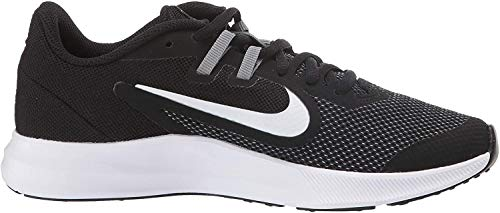 Nike Unisex Downshifter 9 Grade School Running Shoe Black/White-Anthracite-Cool Grey 6Y Regular US Big Kid
