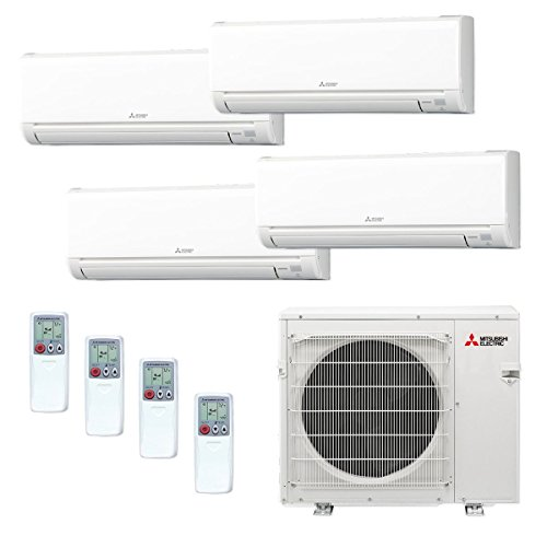 Mitsubishi Quad Zone Ductless Split System Wall...