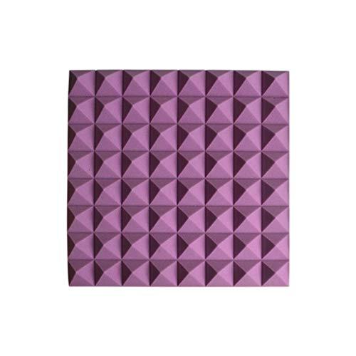 Anti-lawaai familie akoestische platen vochtbestendig brandbescherming geluidsabsorberend katoen inklapbare eenvoudige Acoustic Panelen 20 stuks geïnstalleerde huishoudelijke producten (kleur: paars)