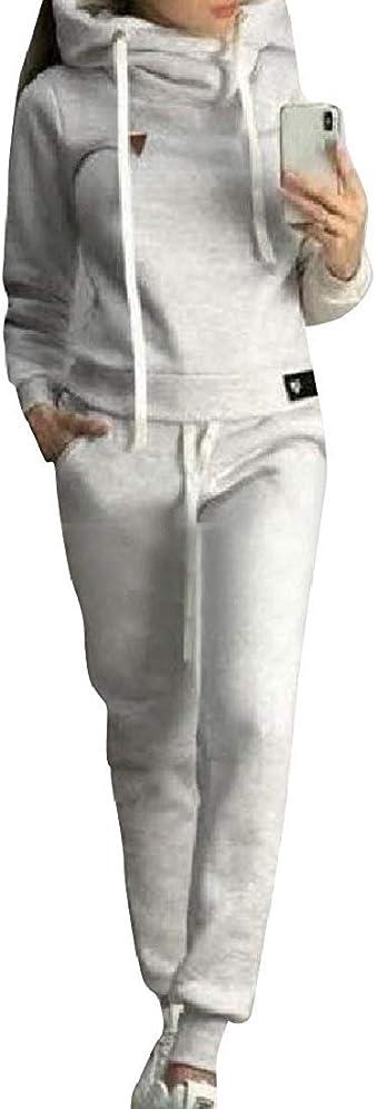 必要性正午ポータルレディースプラスサイズ秋冬フードファッションジャケット&ロングパンツセット Pink 4XLarge
