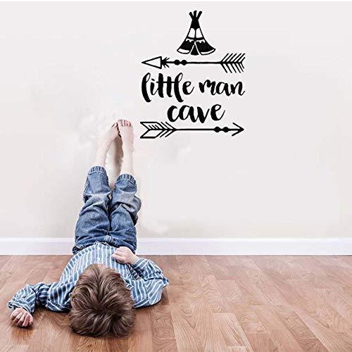 Little Man Jongen Cartoon Muursticker Kids Slaapkamer Verwijderbare Behang Art Decals Kwekerij Kamer DIY Home Decor Vinyl Pijl Stickers 45 * 52Cm