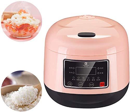 Rice Cooker 3L Rice Cooker Steamer 501W électrique Cuiseur à vapeur portable Vapeur chauffage Alimentation multifonctionnelle pour la cuisson du riz, porridge, oeufs Nutritif 2020,Rose