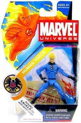 Marvel Universe Human Torch (variante azzurro) figura 4'