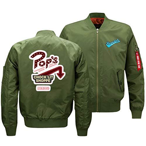 sweatshirts Riverdale Retro Bomberjacke Motorradjacke College Jacke, Herren Fruhling Herbst Bikerjacke Steppmantel Fliegerjacke Kurz 3-2XL