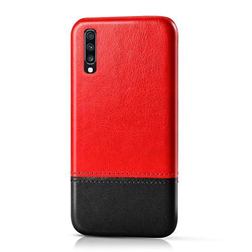 Suhctup Compatible pour Nokia 5.1 Plus/X5 Coque Cuir Premium Ultra Mince Multicolore Étui Style de Design Facile Mode Housse Anti-Choc Antidérapant Protection Cover(Rouge Noir)