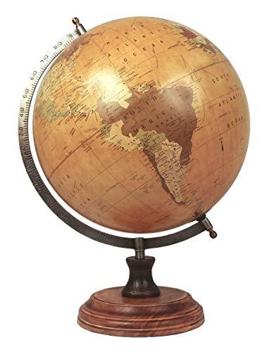 KANJJ-YU Mesa Middle-England World Globe Dia.28cm Mesa de Escritorio H: 45 cm Atlas náutico Mapa de la Tierra