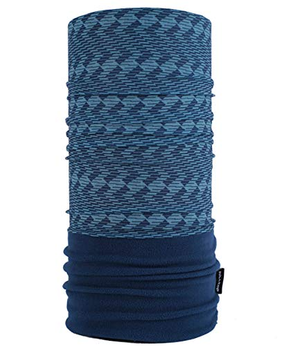 Hilltop WÄRMENDES FLEECE Multifunktionstuch Polar Schlauchtuch das Halstuch für kalte Herbst und Wintertage. aktuelle Farben, Farbe Polar Tuch:7 Blau