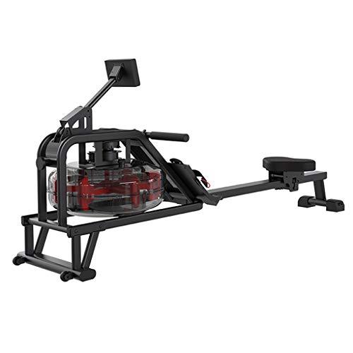 QNMM Übungs-Fitness-Rudergeräte Wasser-Rudergerät, Rudergerät Mit Einstellbarem Wasserwiderstand, 4-stufige Widerstandseinstellung, Mit LCD-Anzeigekapazität Für Das Heim-Fitnessstudio