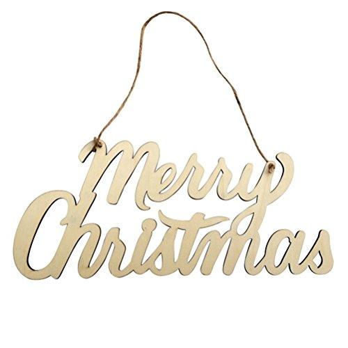 """Fenical Schild mit Aufschrift """"Merry Christmas"""", rustikaler Holzausschnitt """"Merry Christmas"""""""