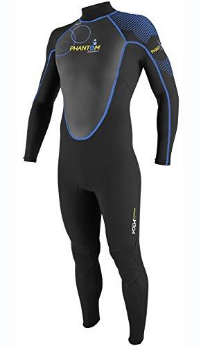 Phantom Aquatics Voda Premium Stretch Uomo Completa Muta, Uomo, Black Blue