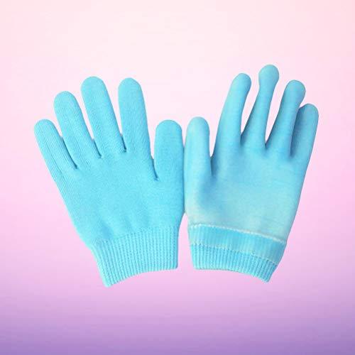 Lurrose 1Pair Spa Gel Soft Moisture handschoenen en sokken Pain Relif houdbaarheid comfortabele Soft Prevent Blisse Forefoot Cushing Blue