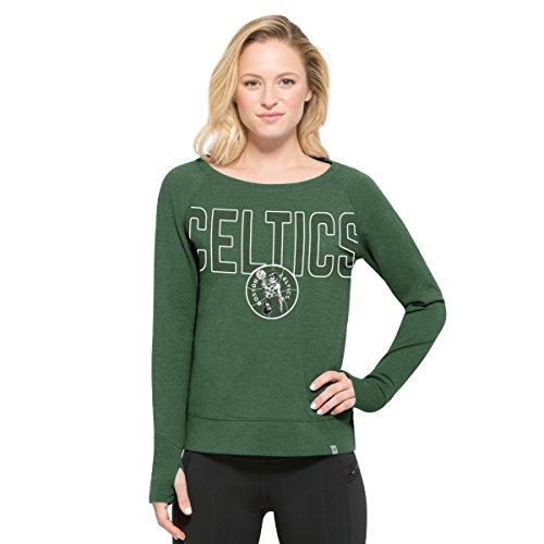 NBA Boston Celtics Women's '47 React Raglan Long Sleeve Tee, X-Large, Pine