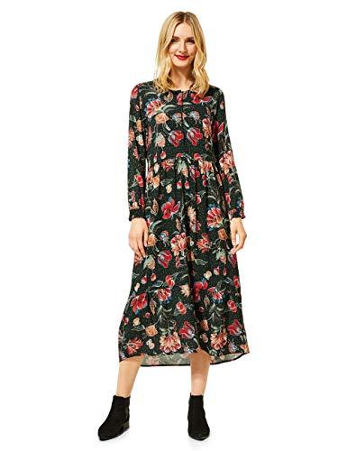 Street One Damen 142761 Midi geblümt Kleid, Endless Green, 40