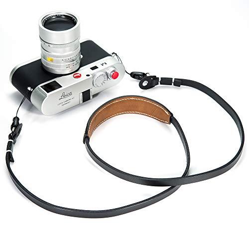 Canpis - Correa de Piel para cámara de Fotos réflex (para Principiantes, con cojín móvil, Compatible con Sony, Leica, Canon, Nikon, Fuji, Olympus, Panasonic, etc.)