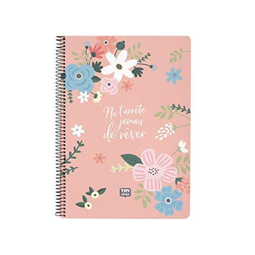 Cuaderno de espiral, A5, diseño con texto'Nunca te parará de soñar'