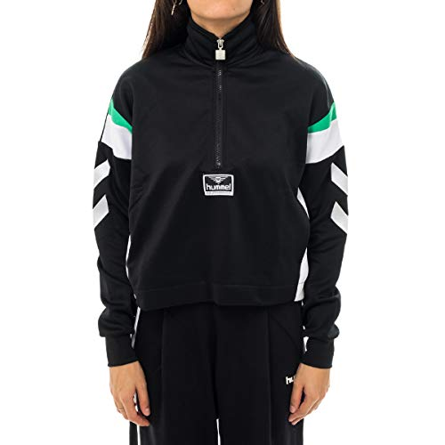 Hummel Damen Clara Half Zip Jacke, Black, XL