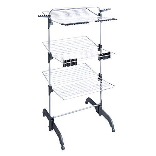 Amazon Basics AmazonBasics 3-Tier Deluxe Tower Airer Dryer Laundry Rack, Meters, 42 m