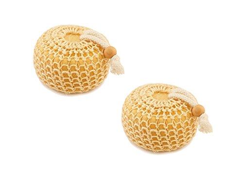 Choses de la nature éponge ronde corps avec revêtement en sisal, Duopack – 50 g