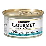 Purina Gourmet Diamant Delicias en Gelatina comida para gatos con Atun 24 x 85 g
