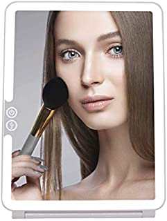 Cristallio 36 LED Makeup Mirror - LED Vanity Mirror - USB Rechargeable Makeup Mirror - Portable LED Mirror - Travel Lighted Touch Screen Mirror - Touch Screen Dimming LED Travel Mirror