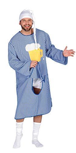 Andrea Moden 418-58/60 - Nachthemd Bavaria, mit Bierseidel Motiv und Hosentürl, Größe 58/60, Junggesellenabschied, Schlafwandler, Motto Party, Karneval