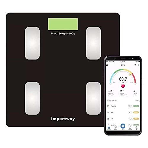 Balança Digital Bioimpedância Com Bluetooth Aplicativo Peso Analisador Corporal Gordura 180kg