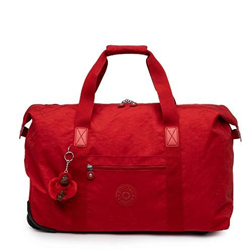 Kipling Art on Wheels Softside Rolling Tote Luggage, Cherry, Medium 25-Inch