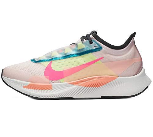 Nike Women's WMNS Zoom Fly 3 PRM Running Shoe, Barely Rose Pink Blast Atomic Pink Dk Smoke Grey Ghost Green BRT Spruce, 4 UK