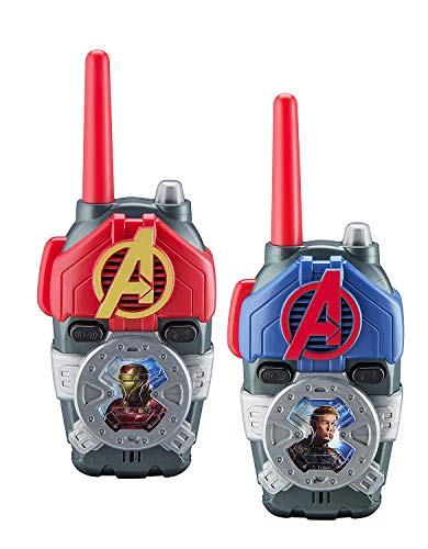 Avengers Walkie talkies para Personajes de superhéroes para niños con Luces y Sonidos, radios bidireccionales de Largo Alcance Communication