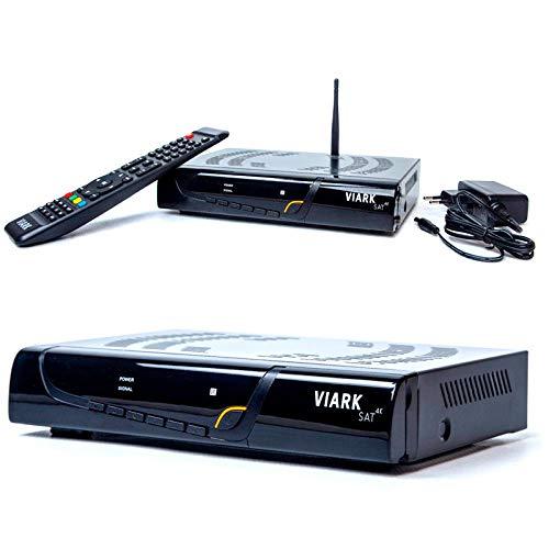 ulitmo Modelo Viark Sat 4K Receptor Satélite 4K Multistream UHD DVB-S2X H.265 HEVC 60fps con LAN y Antena WiFi por USB