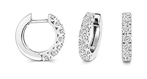 Pendientes de aros de diamante