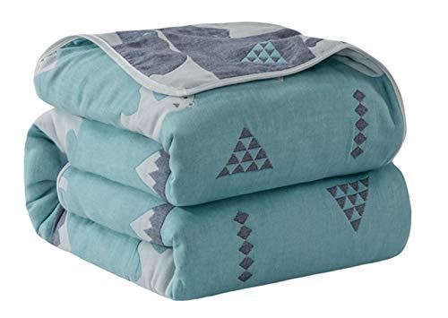 Hayisugal Kuscheldecke Baby 100% Baumwolle Sommerdecke zweiseitig Kinder Tagesdecke Schlafdecke Bettüberwurf Überwurf Decke Baumwolldecke Bunte Decke Kinder Bettdecke, Eisbär, 150 x 200cm