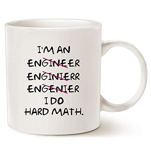 Koffiemok, kerstcadeaus grappige koffie mokken verkeerd ik ben een ingenieur, ik doe harde wiskunde beste motiverende en inspirerende geschenken, wit 11 Oz